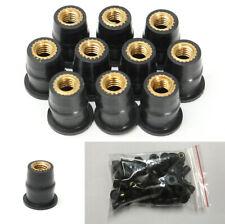 50Pcs M5 Rubber Well Nut Brass For Motorcycles ATV Windscreens Fairings Fender
