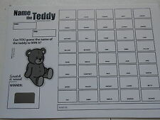 NAME THE TEDDY SCRATCH CARD ( B&W) X 1 ( 40 SPACES) EASY WAY TO RAISE £20
