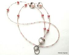 Lanyard,Eyeglass/badge holder,Breast Cancer, Hearts, Otterlily Originals Lan178
