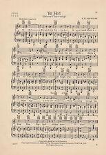 """Vtg HARVARD UNIVERSITY song sheet 'YO HO"""" CAMBRIDGE MASS. C 1936"""