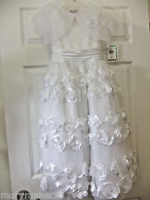 NWT $80 BOBBIE JEAN DRESS GIRL 8 WHITE 2pc Holy Communion Brides maid Party More