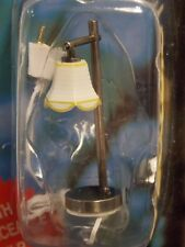 Dollhouse Miniature Electric Light Modern Table Lamp Pewter 1:12 inch scale J12B