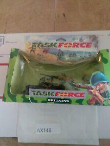 AX146 Britains Deetail Task force  # 7610 Camo Machine Gun Jeep painted metal
