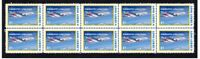 EMIRATES AIRLINES A380 AIRBUS 1st FLIGHT STAMP STRIP 5