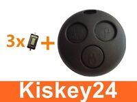 1x Schlüssel Gehäuse + 3x Micro Taster Schalter für Smart ForTwo-MC01 450 Neu
