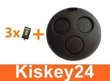 Clé commandes à distance Boîtier + 3X Bouton Micro pour Smart fortwo-mc01 450