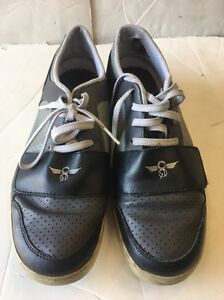 PRE OWNED CREATIVE RECREATION LOW TOP SHOES SIZE:8.5 Grey/Black/charcoal