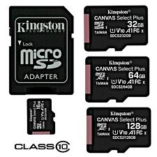32Mbps // Class 4 Professional Kingston 16GB MicroSDHC Sony E5333 with custom formatting and Standard SD Adapter!