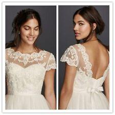 Wedding Jacket Bolero for Bridal Shawl Short Sleeve Lace Coat Wedding Top Custom