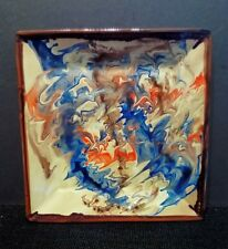 Striking Rainbow Agate Earthenware Studio Pottery Centrepiece Bowl