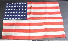 Vintage Hankie Wwii48 Star Silk American Flag Hankie 15 3/4 x 10 1/2 in