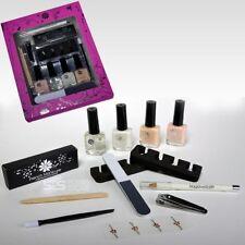 French Manicure Set Nagellack Nagelweiß Stift Maniküre Nagelpolitur Nagelfeile