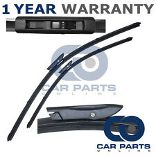 """FOR RENAULT FLUENCE 2009- DIRECT FIT FRONT AERO WINDOW WIPER BLADES PAIR 24"""" 16"""""""
