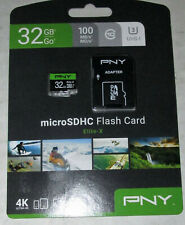 PNY 32gb Micro SDHC Elite Card - 100MB/S - Free Shipping - Great For Tablets!