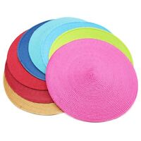 37cm Jacquard Weaved Non-Slip Insulation Placemats Table Mats Home Decor 1-8 pcs