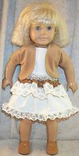 Doll Clothes Made 2 Fit American Girl Shrug Skirt Top 3pc Beige Ivory Lace