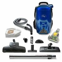 Blue GV 8 Quart HEPA Backpack Vacuum Blue