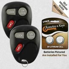 2x Car Transmitter Alarm Remote Key Control for 2001 2002 Chevrolet Tahoe 968