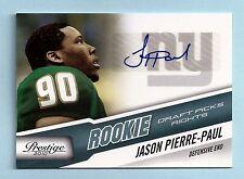 JASON PIERRE-PAUL 2010 PRESTIGE DRAFT PICKS RIGHTS RC AUTOGRAPH AUTO /399