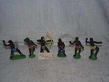 6 DDR Neger Eingeborene Indianer Völkergruppe 7,5 cm