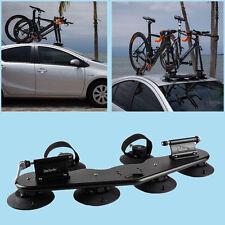 Car SUV Vans 2-Bike Fork Mount Roof Rack Bicycle Carrier w/ Rear Wheel Strap New