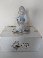 Nao Lladro No. 105 Sitting Girl Nuturing Foot Shoe Off Glazed W Original Box