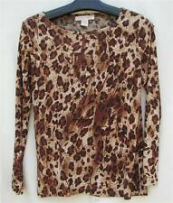M C.L.O.T.H.E.S. Cheeta Animal Print CLOTHES TraveL Texture KNIT $4.50 SHIP TOP
