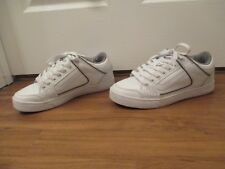 Used Worn Size 9.5 Vans Repeater Skateboard Shoes White Gray