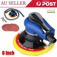 "AU Air Random Orbital Palm Sander 6"" Pad Hand Power Tool Polisher & 5 Sandpapers"