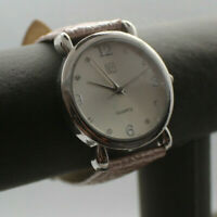 NY&C Pink Leather Band Silver Tone Face Woman's Watch