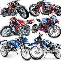 Motorbike  City Vehicle Technic Sets Off Road Model Building Blocks Kids Toys
