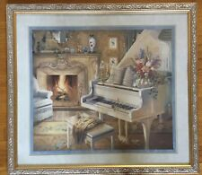 Homco Home Interiors Grand Piano Picture By J Gibson