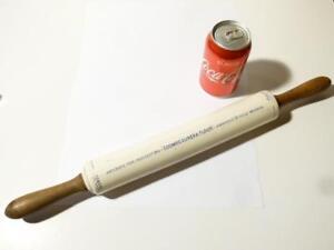 19thC  ISOBEL Advertising Pottery Rolling Pin KILVERTS PURE LARD COOMBS MASONS
