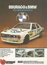 X0650 BMW 635 CSI GR.A - Bburago - Pubblicità del 1983 - Vintage advertising