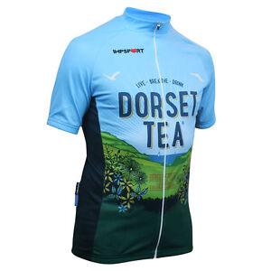 Dorset Tea Short Sleeved Cycling Jersey - Full Length Zip - Mens & Ladies Sizes