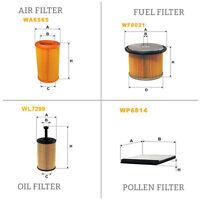 WIX AIR POLLEN OIL & FUEL Filter Service Kit WA6565,WP6814,WL7299,WF8021
