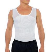 Esteem Apparel Original Men's Chest Compression Shirt to Hide, White, Size Large