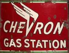 """TIN SIGN """"Chevron Red""""   Gas-Oil   Signs  Rustic Wall Decor"""