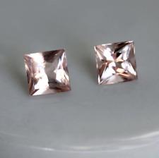 Genuine Natural Morganite Princess Peach Pink Color Loose Stones (5x5 - 10x10mm)