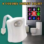 8 Farbe Motion Sensor LED Toilettendeckel WC Sitz Klobrille WC Nachtlicht