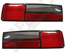APDTY 166-1255RL Tail Light Lens Cover Pair 1987-1993 Ford Mustang LX (Fox Body)