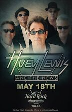 HUEY LEWIS AND THE NEWS 2017 OKLAHOMA CONCERT TOUR POSTER - Classic Rock Music