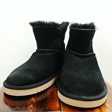 KOOLABURRA by UGG Women's Size 5 1015209 Suede Classic Mini Ankle Boots Black