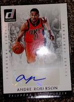 ANDRE ROBERSON SIGNATURE Series Donruss NBA Card SS-AR 2015-16