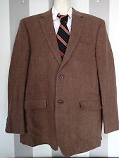 RALPH LAUREN 44 R SUIT JACKET BLAZER, HERRINGBONE TWEED  WOOL  ED
