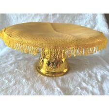 TAT Thai  Cloth Gold Cover Buddha Worship Offering Pedestal Tray Altar Fabric