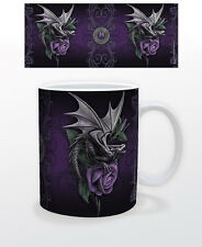 ANNE STOKES DRAGON BEAUTY 11 OZ COFFEE MUG ARTIST DECOR CUP GLASS INTERIOR BOOKS