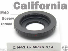 C Mount Adapter to M42 Micro m4/3 Movie Lens E-P3 E-P2 E-PL3 E-PL2 GF3 GF2 GH2