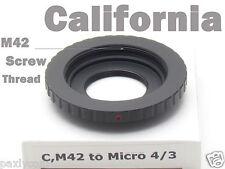 C Mount Adapter to M42 Micro m4/3 Movie Lens E-P3 E-P2 E-PL3 E-PL2 GF3 GF2 GH2