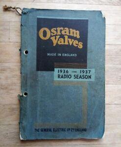 GEC Osram Valve Manual 1936-1937 Radio Season (nice valve pics) - wireless